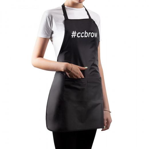 Фартук CC Brow с карманом, черный, 76 см.