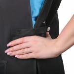 Фартук Classic с клепками и карманом, черный