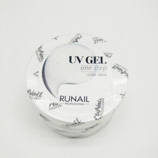 Гель RuNail, Однофазный прозрачный, арт.3742, пр-во РФ, 56 гр.