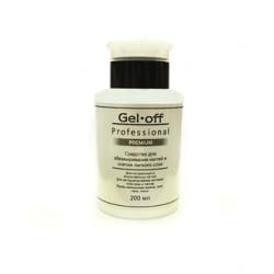GEL-OFF PREMIUM Средство для обезжиривания и снятия липкого слоя Cleaner Professional, 200 мл ПОМПА