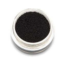 Бульонки супер мелкие TNL черные, 0,4 мм, 3 гр.