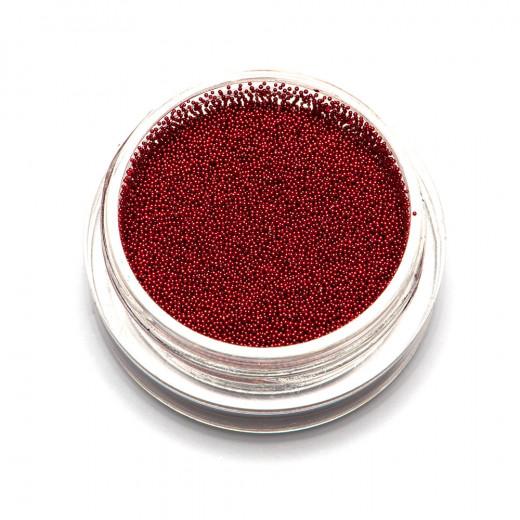 Бульонки супер мелкие TNL красные, 0,2 мм, 3 гр.