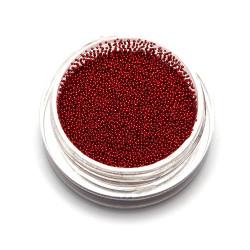 Бульонки супер мелкие TNL красные, 0,4 мм, 3 гр.