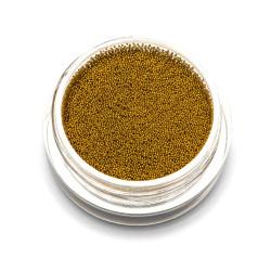 Бульонки супер мелкие TNL золото, 0,2 мм, 3 гр.