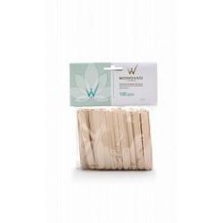Шпатели деревянные средние WhiteLineNatura 100 шт.