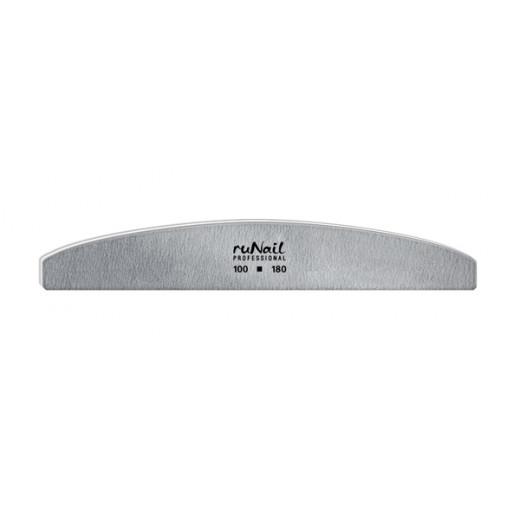 Профессиональная пилка для искусственных ногтей (серая, полукруглая, 100/180)
