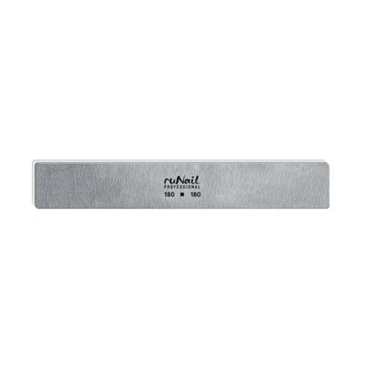 Профессиональная пилка для искусственных ногтей (серая, прямая широкая, 180/180)